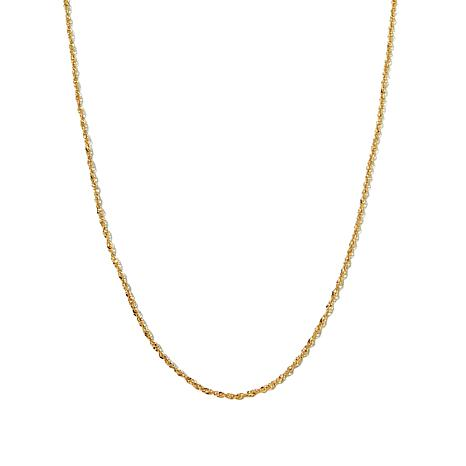 "Michael Anthony® 0.35mm 10K Gold 18"" Singapore Chain"