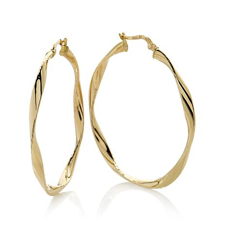 Michael Anthony Jewelry 10K Yellow Gold Twisted Tube Hoop