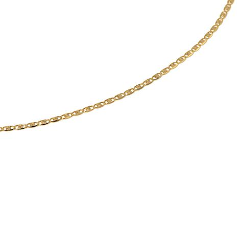 "Michael Anthony® 1.4mm 10K Valentino Mirror 16"" Chain"