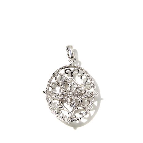 Michael Anthony® Filigree Crystal Butterfly  Pendant