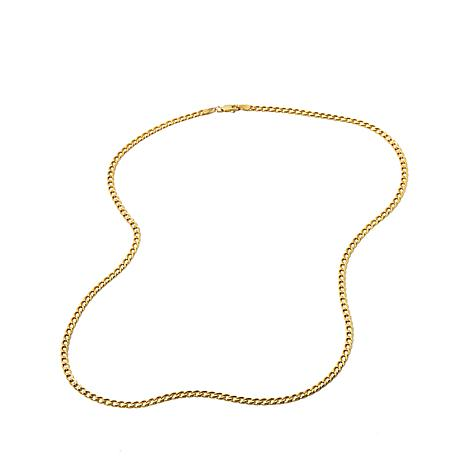 "Michael Anthony Jewelry® 10K 3mm Curb-Link 20"" Necklace"