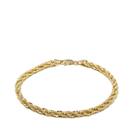 Michael Anthony Jewelry® 10K 3mm Rope Chain Bracelet