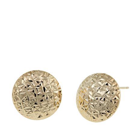 Michael Anthony Jewelry® 10K Diamond-Cut Button Earrings