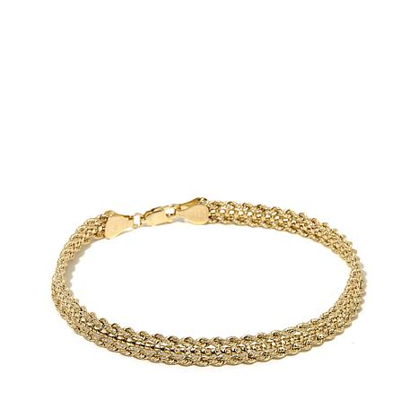 Michael Anthony Jewelry® 10K Double Rope Chain Bracelet