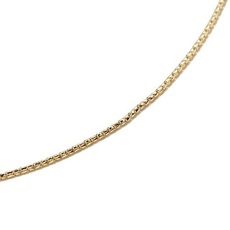 "Michael Anthony Jewelry® 10K Gold 20"" Birdcage Chain"