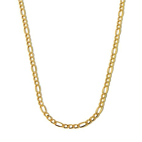 "Michael Anthony Jewelry® 10K Gold 5.45mm 3+1 Figaro 20"" Chain Necklace"