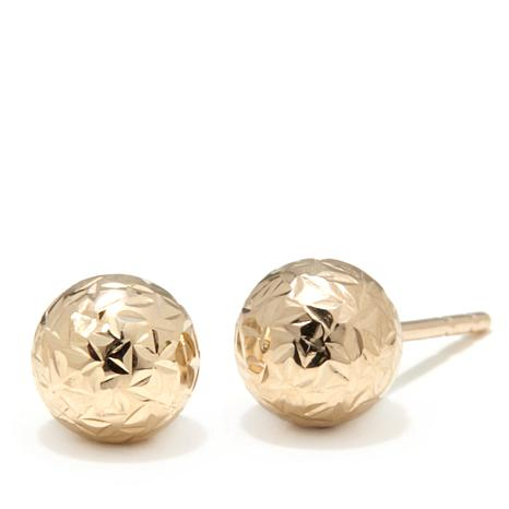 73711b01c Michael Anthony Jewelry® 10K Yellow Gold 6mm Diamond-Cut Stud Earrings -  7903533 | HSN