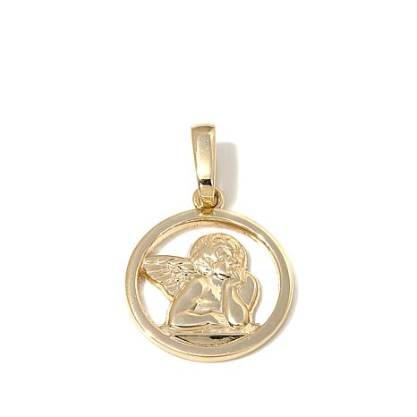 Michael Anthony Jewelry® 10K Gold Cherub Disc Pendant