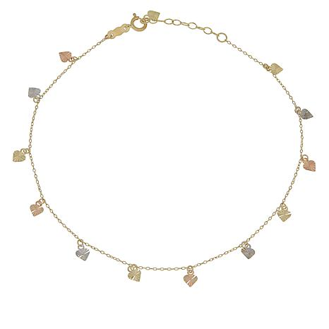 Michael Anthony Jewelry® 10K Heart Charm Ankle Bracelet