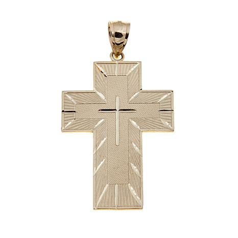 Michael Anthony Jewelry® 10K Men's Lord's Prayer Cross