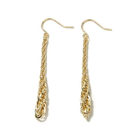 Michael Anthony Jewelry® 10K Rope Chain Drop Earrings