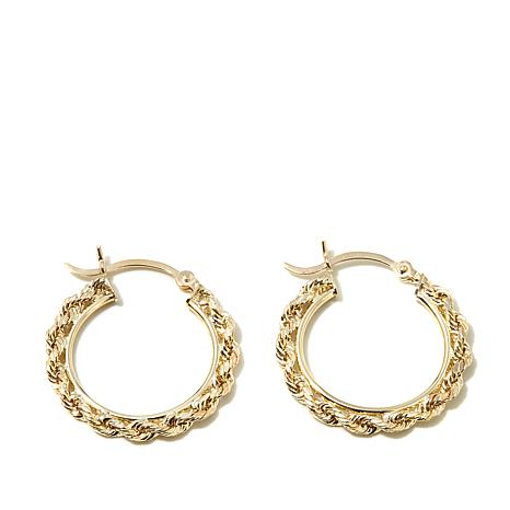 Michael Anthony Jewelry 10K 2 5mm Rope Chain Hoop Earrings