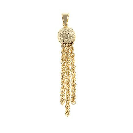 Michael Anthony Jewelry® 10K Rope Chain Tassel Pendant
