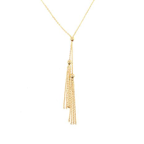 "Michael Anthony Jewelry® 10K Tassel Drop 18"" Necklace"