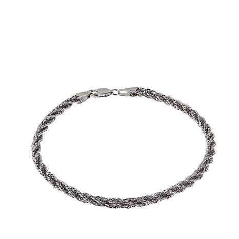 Michael Anthony Jewelry® 10K White Gold Rope Chain - 8""