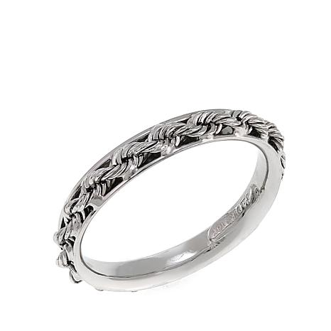 Michael Anthony Jewelry® 10K White Gold Rope Chain Band Ring