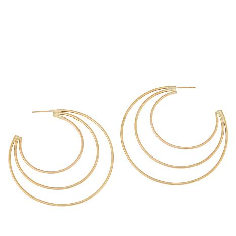 Michael Anthony Jewelry® 10K Yellow Gold Multi-Hoop Earrings
