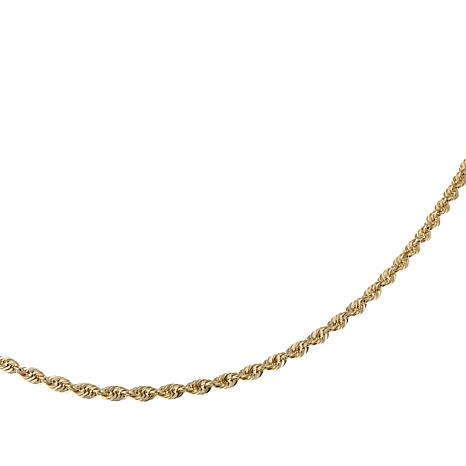 "Michael Anthony Jewelry® 14K Gold 2.5mm Rope Chain 30"" Necklace"