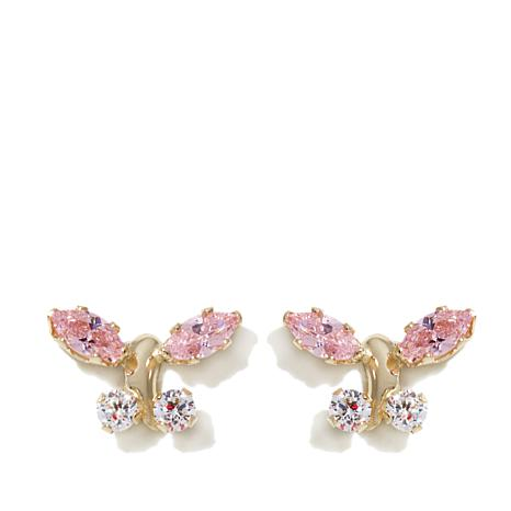 Michael Anthony Jewelry® 14K Kids CZ Butterfly Stud Earrings