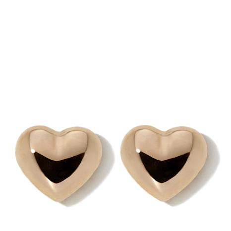 Michael Anthony Jewelry® 14K Kids Puffed Heart Stud Earrings