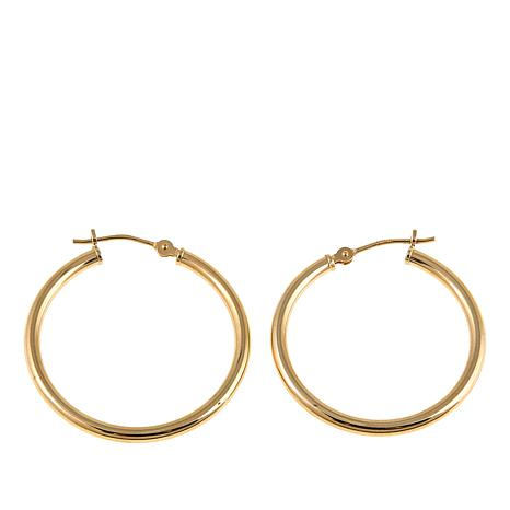Michael Anthony Jewelry® 14K Yellow Gold 25mm Hoop Earrings