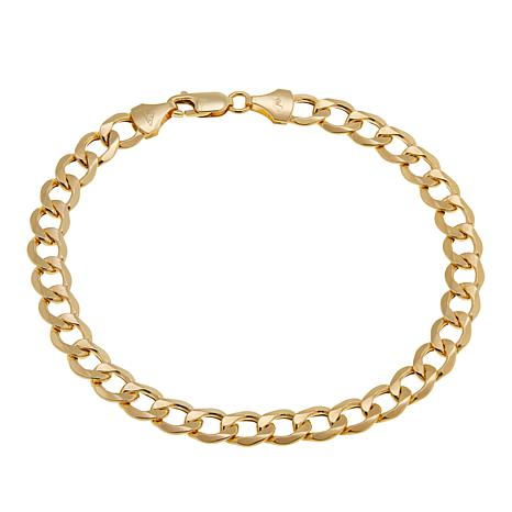 """Michael Anthony Jewelry® 14K Yellow Gold Curb Link 8-1/2"""" Bracelet"""