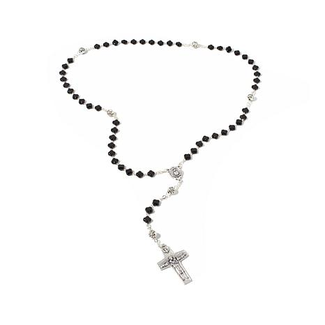 """Michael Anthony Jewelry ® 18"""" Crystal Bead Rosary"""