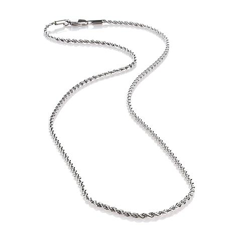 """Michael Anthony Jewelry® 2mm 22"""" Rope Chain"""