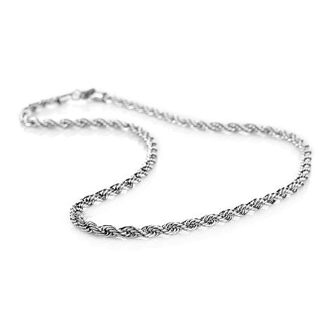 6mm stainless steel 22 rope chain necklace 6951471 hsn