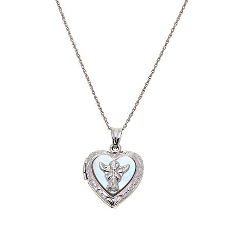 Michael Anthony Jewelry® Angel Heart Locket with Chain