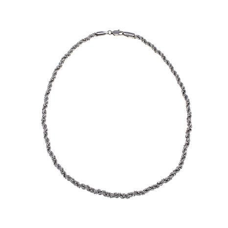 """Michael Anthony Jewelry® Bead-Wrapped Rope Chain - 18"""""""