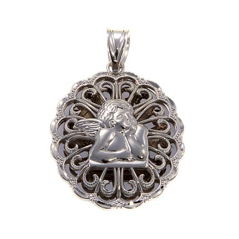 Michael Anthony Jewelry® Cherub Scroll Frame Pendant