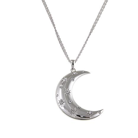 """Michael Anthony Jewelry® Crescent Moon Pendant with 18"""" Chain Necklace"""