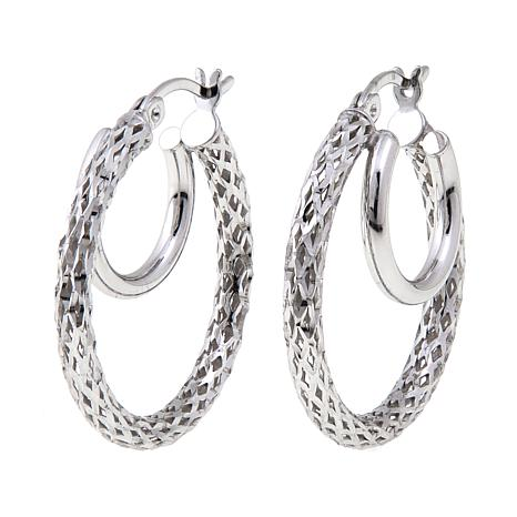 Michael Anthony Jewelry® Double Hoop Earrings