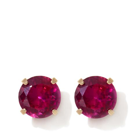Michael Anthony Jewelry Kids 86ctw Ruby Colored Cz Stud Earrings