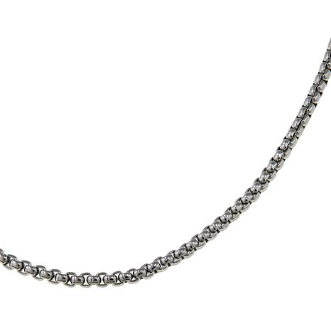 "Michael Anthony Jewelry Stainless Steel 20"" Box Chain Necklace"