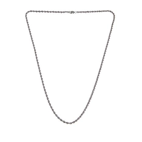 "Michael Anthony Jewelry® Sterling Silver Rope Chain 18"" Necklace"