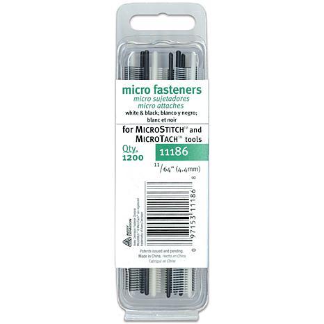 Micro-Stitch-Fastener Refill - 1,200 Pk in White/Black