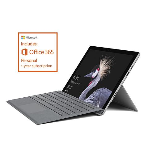 """Microsoft Surface Pro 12.3"""" 128GB Core m3 Win 10 Tablet with Keyboard"""