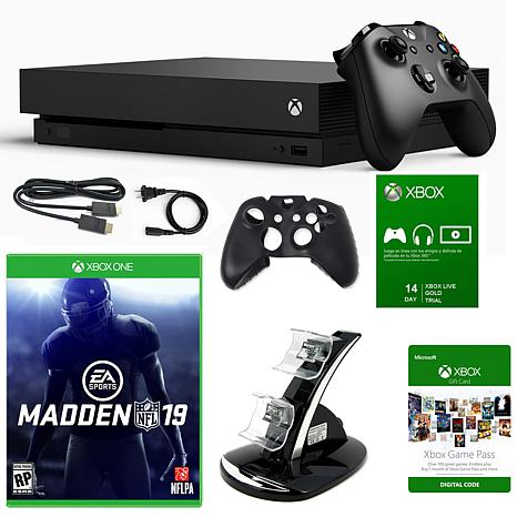 "Microsoft Xbox One X 1TB 4K Console with ""Madden NFL19"" Game"
