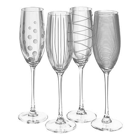 "Mikasa ""Cheers"" Flutes - Set of 4"