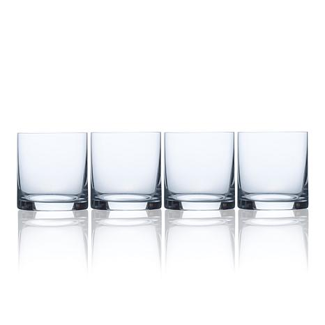 Mikasa Laura Set of 4 Double Old Fashioned Glasses