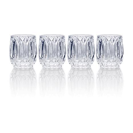 Mikasa Saxon Double Old Fashioned Glass Set of 4