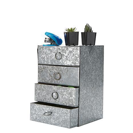 Mind Reader 4-Drawer Iron Storage Cabinet