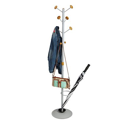 Mind Reader Free-Standing Coat Rack w/Umbrella Holder