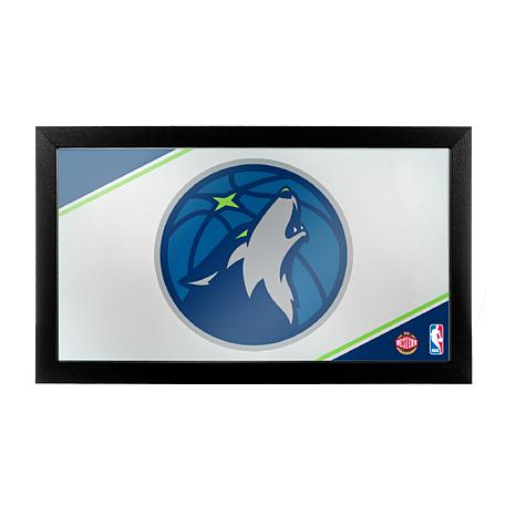 Minnesota Timberwolves NBA Framed Logo Mirror
