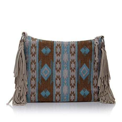 Minnetonka Baja Suede Fringe Crossbody Bag
