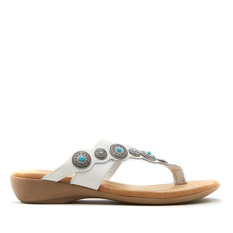Minnetonka Evelyn Asymmetric Toe-Loop Sandal