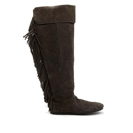Minnetonka Over-the-Knee Suede Fringe Boot