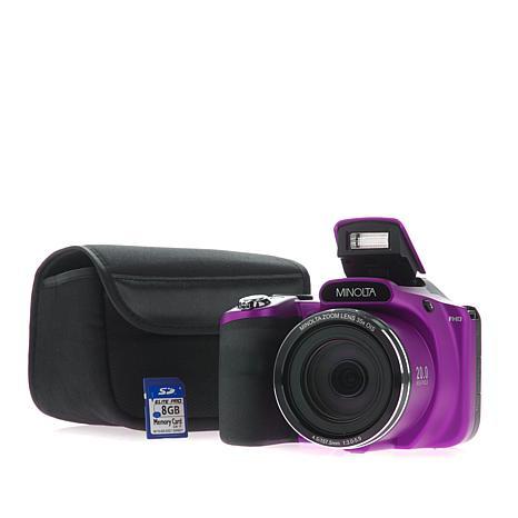 Minolta 20MP 35X Optical Zoom SLR-Style Camera Bundle